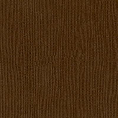 "Bazzill mono canvas 12x12"" chocolate"