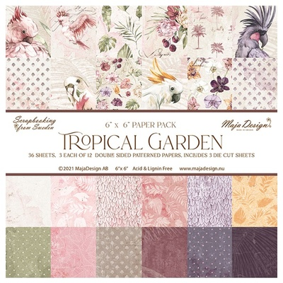 """Tropical Garden - 6x6"""" Collection Pack"""