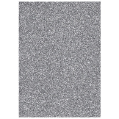 Glitter Foam sheet - Silver A4