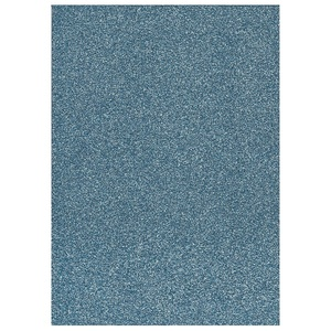 Glitter Foam sheet -  Light Blue A4