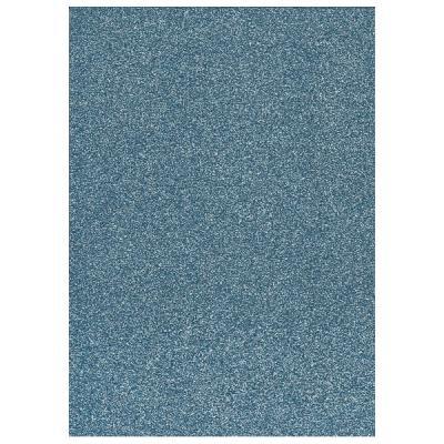 Glitter Foam sheet -  Light Blue A4