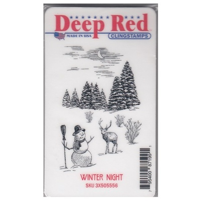 Deep Red Clingstamps