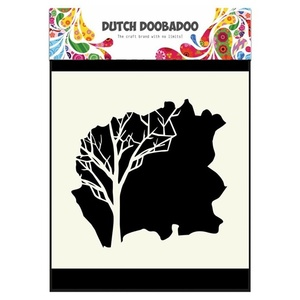 Dutch Mask Art 15 x 15 cm Tree
