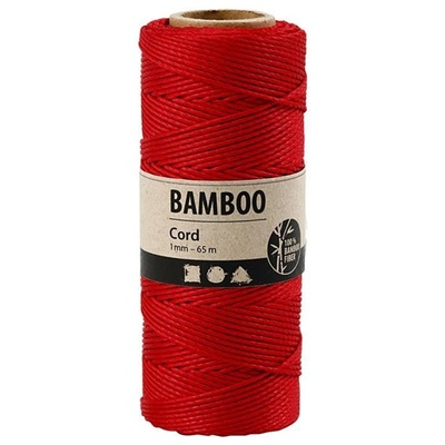 """Bamboo Cord """"Red"""" 503485"""