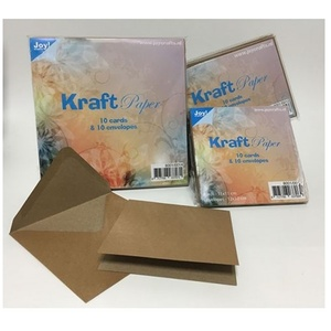 Joy crafts  - Kraft Paper 10 Cards 10 Envelopes