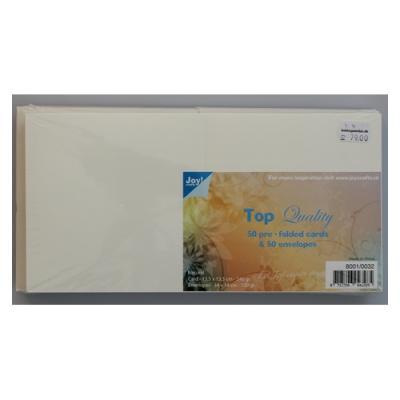 Kort & kuvertsæt, 135 x 135 mm