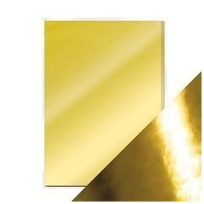 Mirror Card, Polished Gold
