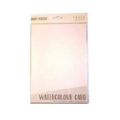 Craft Perfect - Watercolour card 5 sheets 9570E A4 Hvid