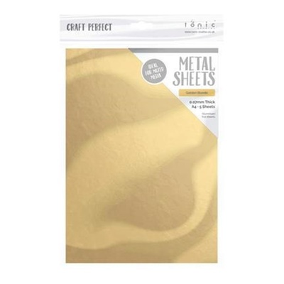 "Craft Perfect Metal - Aluminium Sheets ""Golden Blonde"" A4 5 ark"