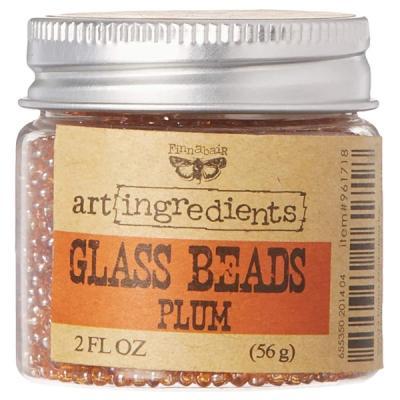 Glass Beads, Plum