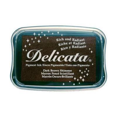 Delicata inkpad Dark brown shimmer DE-000-354