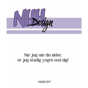NHH Design Clearstamp - Stadig yngre