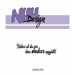 NHH Design Clearstamp - Håber du får dine ønsker opfyldt