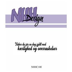 NHH Design Clearstamp - kærlighed og overraskelser
