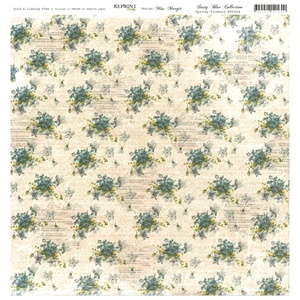 Reprint - Dusty Blue Collection, Spring Flowers