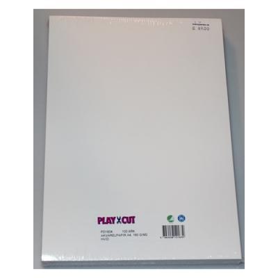 PlayCut Akvarelpapir - A4 180 g/m2, 100 stk. pk