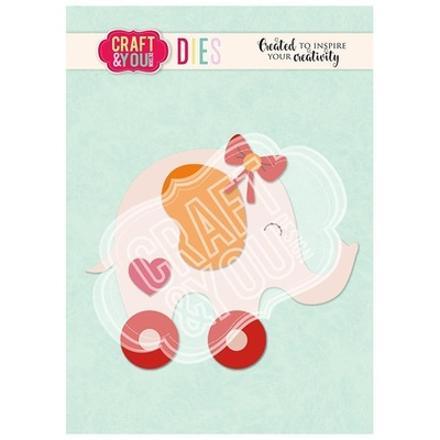"""CRAFT & YOU DIE """"Elephant Baby Toy"""""""
