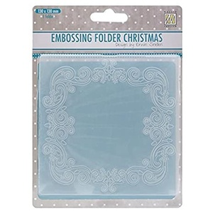 Nelliie Snellen - Embossingfoder 130 x 130 mm Christmas Square