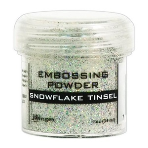 Ranger - Embossing Powder, Snowflakke tinsel