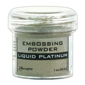 Ranger - Embossing Powder, Liquid platinum