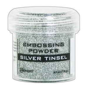 Ranger - Embossing Powder, Silver Tinsel