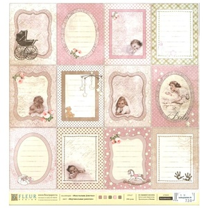 Fleur Design -  Our baby girl - Vertical frames