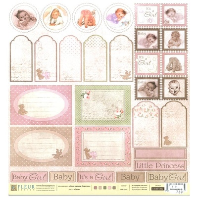 Fleur Design -  Our baby girl - Tags