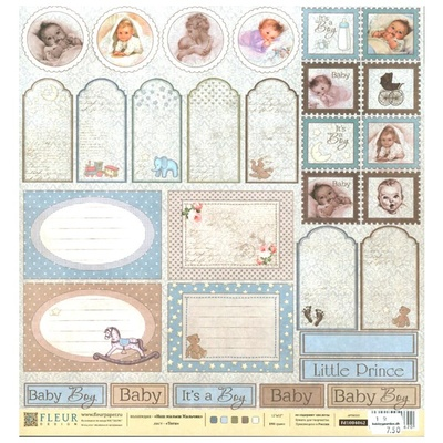 Fleur Design -  Our baby boy - Tags