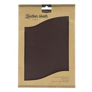 Fake Leather Sheets, Mørk Brun A4