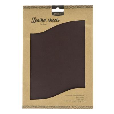 Fake Leather Sheets, Mørk Brun A4