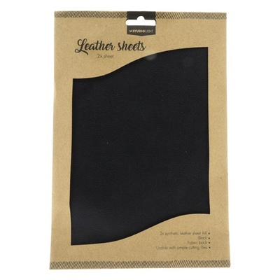 Fake Leather Sheets, Sort A4