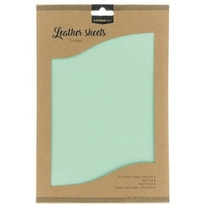 Fake Leather Sheets Light Teal A4