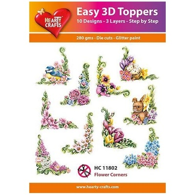 Easy 3D Toppers,  Hearty Crafts