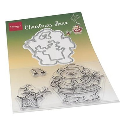 Marianne Design - Clearstamp + die HT1658 Hetty's Christmas Bear