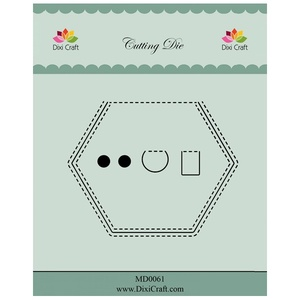 "Dixi Craft Dies ""Peek A Boo - Hexagon (5 pcs)"""