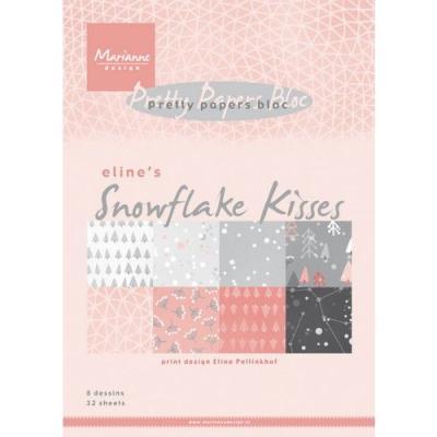 Blok A5, Marianne design Snowflake kisses