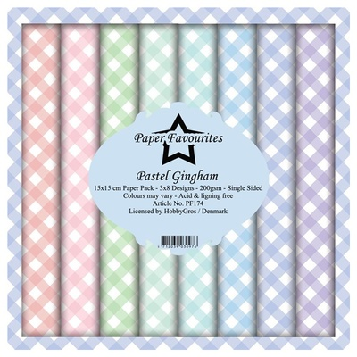"""Paper Favourites Paper Pack """"Pastel Gingham"""""""