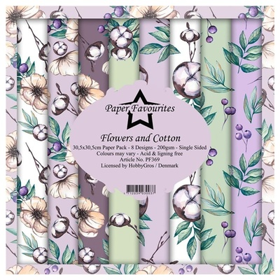 """Paper Favourites Paper Pack """"Flowers and Cotton"""""""