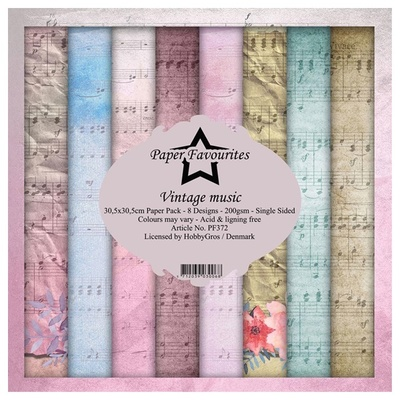 "Paper Favourites Paper Pack ""Vintage music"""