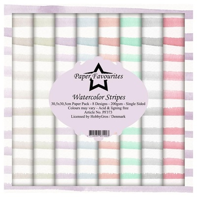 """Paper Favourites Paper Pack """"Watercolor Stripes"""""""