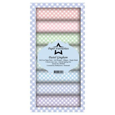 "Paper Favourites Slim Card ""Pastel Gingham"""