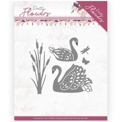 Dies - Precious Marieke - Pretty Flowers - Pretty Swans