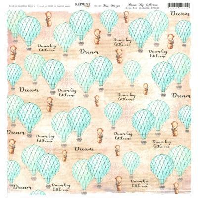 Reprint - Dream Big Collektion, Blue Air Balloons
