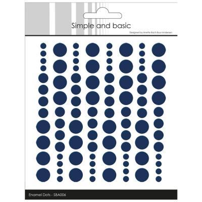 "Simple and Basic Enamel Dots ""Dark Blue (96 pcs)"""