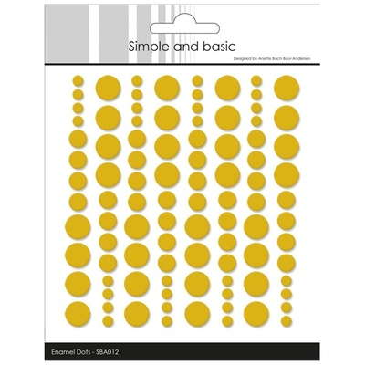 "Simple and Basic Enamel Dots ""Mustard (96 pcs)"""