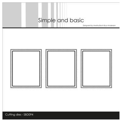 """Simple and Basic die """"3 Pierced Windows(One die)"""
