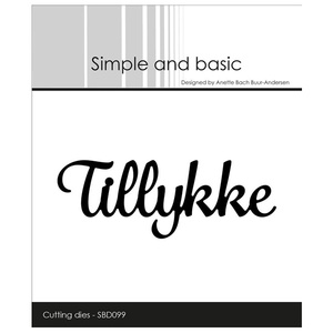 "Simple and Basic die ""Tillykke"""
