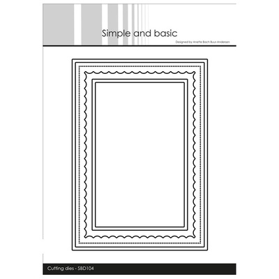 """Simple and Basic die """"Card Base - Rectangle w/inlay"""""""