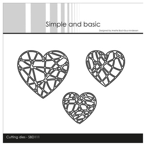 """Simple and Basic die """"String Hearts"""""""
