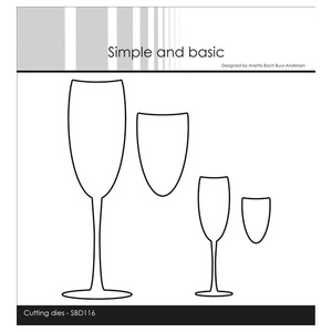"Simple and Basic die ""Champagne Glasses"""